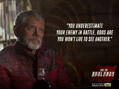 Sage advice from last night's Into the Badlands. You Funny, Really Funny, Funny Jokes, Funny Images, Funny Pictures, Stephen Lang, Into The Badlands, Sci Fi Tv Shows, Growth Quotes