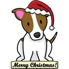 images of christmas jack russells | Cartoon Jack Russell Terrier Christmas Ornament Acrylic Cut Outs | JRT