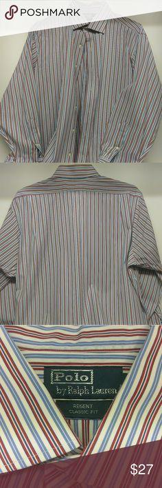 Ralph Lauren men's classic fit button down shirt Striped,  multi color, 100% Cotton Ralph Lauren Shirts Casual Button Down Shirts