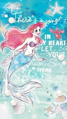 Mermaid Wallpaper Backgrounds, Ariel Wallpaper, Mermaid Wallpapers, Disney Phone Wallpaper, Cute Wallpapers, All Disney Princesses, Ariel Disney, Disney Love, Disney Art