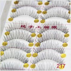 HOT 50 Pair Of Reusable Natural And Regular Long False Eyelashes Artificial Fake Eyelashes False Lashes For Building Faux Cils