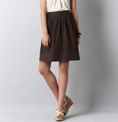 Eyelet Hem Skirt