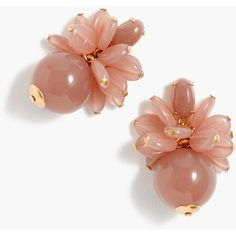 J.Crew Blossom bauble earrings ($48) ❤ liked on Polyvore featuring jewelry, earrings, beads jewellery, beading jewelry, j crew jewellery, polish jewelry and flower jewelry