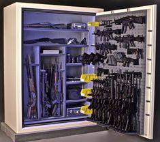 Ammo Storage, Weapon Storage, Gun Safe For Sale, Gun Safe Room, Tactical Wall, Gun Vault, Hidden Gun, Gun Rooms, Home Defense