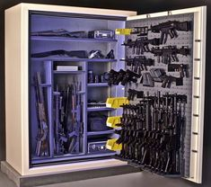 Ammo Storage, Weapon Storage, Weapons Guns, Guns And Ammo, Gun Safe For Sale, Gun Safe Room, Tactical Wall, Gun Vault, Hidden Gun