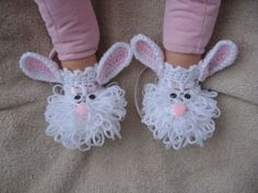 Crochet Bunny Bootie Pattern - just too cute!