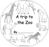 zoo early reader book/activity printable