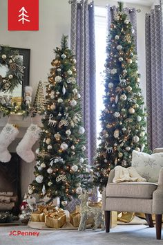 Whether you're shopping for Christmas ornaments or holiday pillows, JCPenney is sure to have the holiday decor just you need at a great price. Slim Christmas Tree, Pencil Christmas Tree, Christmas Feeling, Christmas Rock, Christmas Mantels, Christmas Gnome, Christmas Holidays, Christmas Ornaments, White Christmas