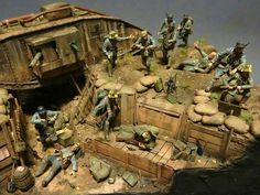 1/35 WW1 Diorama. Unknown Modeller