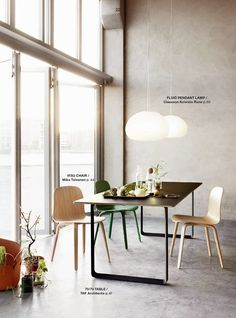 Muuto Catalogue AW 2014 - 70/70 Table and Nerd Chairs http://decdesignecasa.blogspot.it