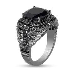 Black Diamond Wedding Sets, Platinum Wedding, Enchanted Disney Fine Jewelry, Black Rhodium, Maleficent, Diamond Stone, Black Rings, Sterling Silver Rings, 925 Silver