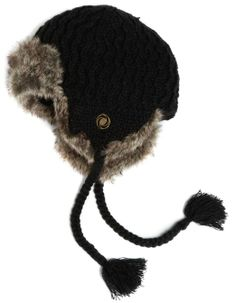 Amazon.com: Chaos Women's Wasa Knit Trapper with Faux Fur Lining (Black, Unisex): Clothing
