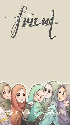 List of Good Looking Anime Wallpaper IPhone Pink - iPhone X Wallpapers 1440x2560 Wallpaper, Cute Girl Wallpaper, Pink Wallpaper Iphone, Pink Iphone, Friend Cartoon, Friend Anime, Anime Best Friends, Islamic Cartoon, Hijab Cartoon