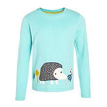Buy Donna Wilson for John Lewis Girls' Hedgehog T-Shirt, Aqua Online at johnlewis.com