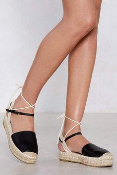4fe3e2a61edcf Nasty Gal Know the Ropes Espadrille Platform Women s Shoes