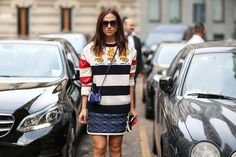 How To Dress Like An Italian Girl — 50+ Lessons Worth Knowing #refinery29  http://www.refinery29.com/2014/09/74945/milan-fashion-week-2014-street-style#slide-2  A little bag, a lot of chic.