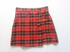 Plaid Skirt / 90s Black & Red CLUELESS High by shopCALIFORNIAGIRLS, $25.00