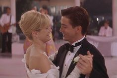 "Jules (Julia Roberts) does all she can to break up the wedding of her BFF Michael (Dermot Mulroney) and his ""dear, sweet chocolate-covered Kimmy"" (Cameron Diaz) — but in the end, Jules realizes Michael and Kimmy are made for each other, and they happily tie the knot. Photo courtesy of Sony Pictures"
