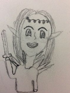 Tried to do an Elf -_- but, now it's really creepy and scary. Scary, Creepy, An Elf, My Drawings, My Arts, Im Scared, Macabre