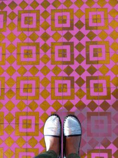 painted (?) floor