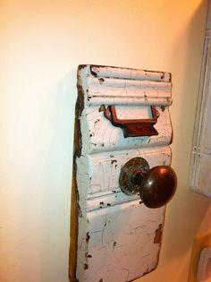 hand towel holder using an old doorknob Living Room Bedroom, Bedroom Decor, Chabby Chic, Bathroom Wall Decor, Big Project, Towel Holder, Door Knobs, Hand Towels, Man Cave