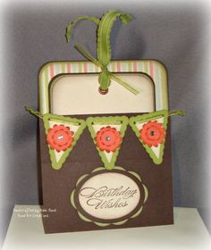 Using Stampin' Up Pennant stamp and punch