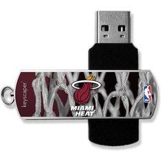 Miami Heat Net Design USB 8GB Flash Drive by Keyscaper, Multicolor