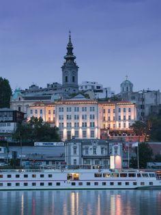 Belgrade, Serbia Annie was an Embassy Guard here. [Danube River Cruiser and Stari Grad Along Sava River, Belgrade, Serbia ] Montenegro, River Cruises In Europe, Cruise Europe, Albania, Bulgaria, Budapest, Ex Yougoslavie, Travel Around The World, Around The Worlds