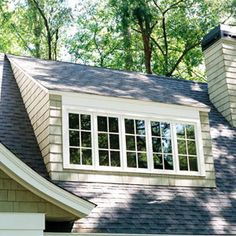 shed dormer: have roofs with a single sloping plane that extends over the window