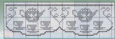 Crochet Borders, Filet Crochet, Knit Crochet, Crochet Patterns, Crochet Curtains, Beautiful Crochet, Knitting Designs, Projects To Try, Cross Stitch