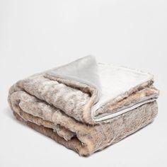 Gray Fur Blanket - Throws - Bedroom | Zara Home United States