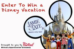 Enter to win a VACATION!!  The Music City Tour Military Giveaway: Walt Disney World