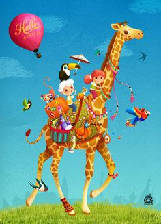 illustration by Miriam Bos - Hello World - for the Dutch children's books week