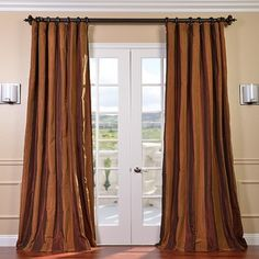 Buy Gold Nugget Blackout Faux Silk Taffeta Curtains at best prices. Find well designed Blackout Faux Silk Taffeta Curtains for window coverings. 108 Inch Curtains, Curtains 1 Panel, Lined Curtains, Blackout Curtains, Curtain Panels, Window Curtains, Curtain Length, Elegant Curtains, Home