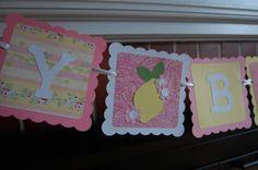 Pink Lemonade Happy Birthday Banner Lemon Theme Pink by GiggleBees, $24.00