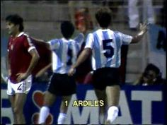 Argentina 4 Hungary 1 in 1982 in Alicante. Osvaldo Ardiles scored after 60 minutes and Argentina lead 4-0 in Group 3 at the World Cup Finals.