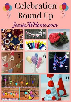 Celebration Patterns #Crochet Roundup from @jessie_athome - perfect for party decorating!