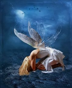 Fairy Down ~ by Elizabeth D'Andrea ~ http://www.flickr.com/photos/piratona/ ~ ♥ So sad but so beautiful