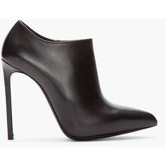 SAINT LAURENT Black Paris Brest Ankle Boots ($930) ❤ liked on Polyvore