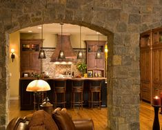 Kitchen Rock Wall Design, Pictures, Remodel, Decor and Ideas