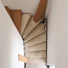 Treppenrenovierung - offene Steintreppe wird zur geschlossener Faltwerktreppe