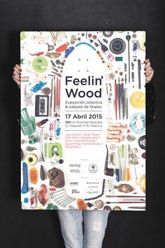 Swing Estudio. #swingestudio #poster #cartel #collage #feelingwood #design #graphicdesign #exhibition #skate #colors