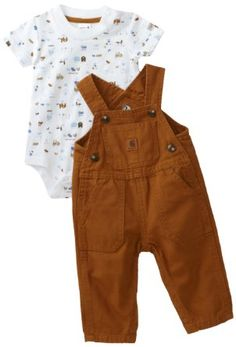 Amazon.com: Carhartt Baby-boys Infant Washed Bib Overall Set, Carhartt Brown, 24 Months: Clothing