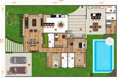 Casas The Sims Freeplay, Suites, House Plants, Floor Plans, Diagram, Design, Houses, House Entrance, Winter Garden