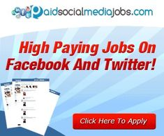 Earn Up To $316/day! Social Media Jobs from the comfort of home! Facebook Jobs, Twitter Jobs, Facebook Status Update, Ways To Earn Money, Earn Money From Home, How To Make Money, Work From Home Careers, Legitimate Work From Home, Online Earning