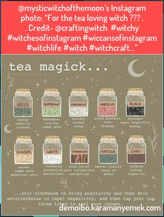Wiccan, Magick, Best Herbal Tea, Witch Craft, Stress And Anxiety, Full Moon, Herbalism, Cocktails, Gems