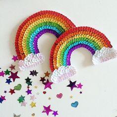 rainbow sequin patch