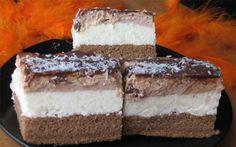 Sladké pokušení s chutí smetany. Výborný koláček vhodný na oslavy nebo jen tak ke kávičce. Mňamka!
