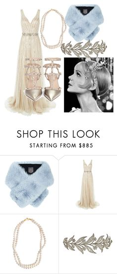 """The Great Gatsby - Daisy look ✨"" by hind-alrumaihi ❤ liked on Polyvore featuring Lilly e Violetta, Jovani, STELLA McCARTNEY, Valentino, women's clothing, women, female, woman, misses and juniors"