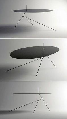〈Chiuet Table〉design by Jeong Seung Jun Contemporary Furniture, Cool Furniture, Furniture Design, Furniture Online, Furniture Stores, Design Living Room, Deco Design, Design Trends, Design Ideas